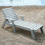POLYWOOD® Captain Recycled Plastic Chaise Lounge with Arms