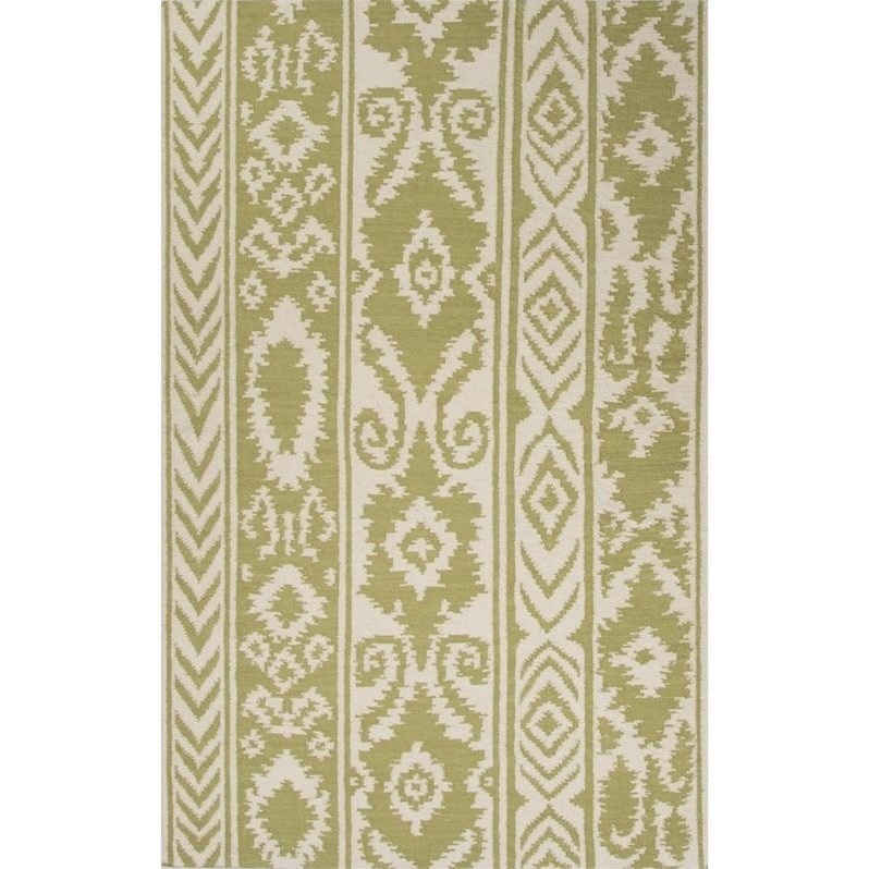 Jaipur Rugs Urban Bungalow 2' x 3' Flat Weave Wool Rug in Green