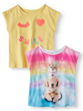 9408f9cd1361 Toddler Girls Graphic Tees - Walmart.com