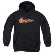 Constantine Logo In Flames Big Boys Pullover Hoodie