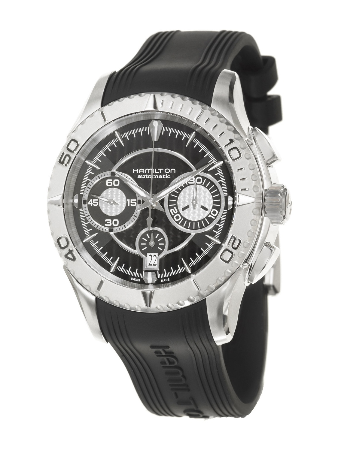Hamilton Men's 'Seaview' Stainless Steel and Rubber Automatic Watch by Overstock
