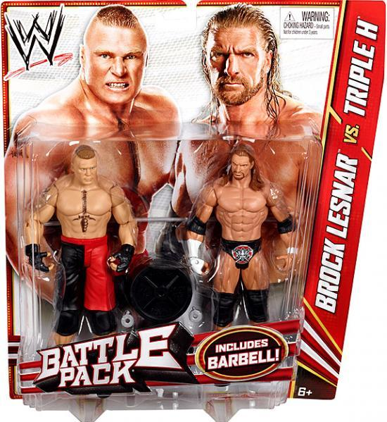 WWE Wrestling Series 20 Brock Lesnar vs. Triple H Action Figure 2-Pack [Barbell]