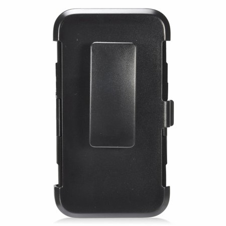 Insten Stand Dual Layer Hybrid Case with Holster For Samsung Galaxy J1 (2016) - Black - image 2 de 3