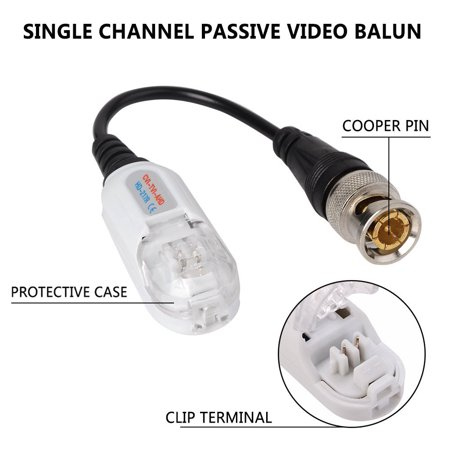 CCTV Video Balun Anti Thunder Twisted Passive Video Transceiver BNC CCTV Accessories 1pair