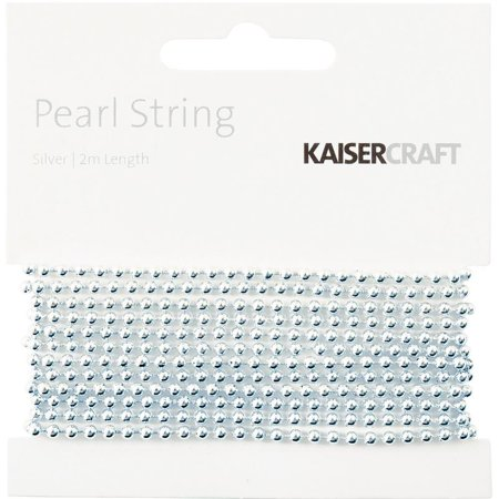 Pearl String 2m-silver