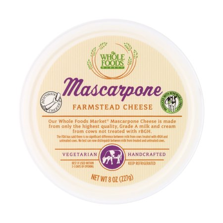 Foods Cheese (Whole Foods Market Mascarpone Farmstead Cheese, 8 oz )