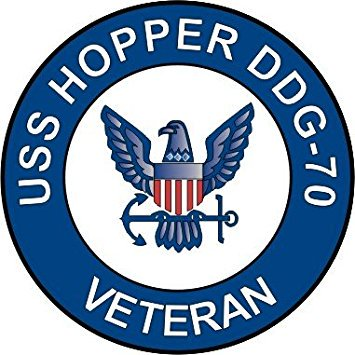US Navy USS Hopper DDG-70 Ship Veteran Decal Sticker 5.5