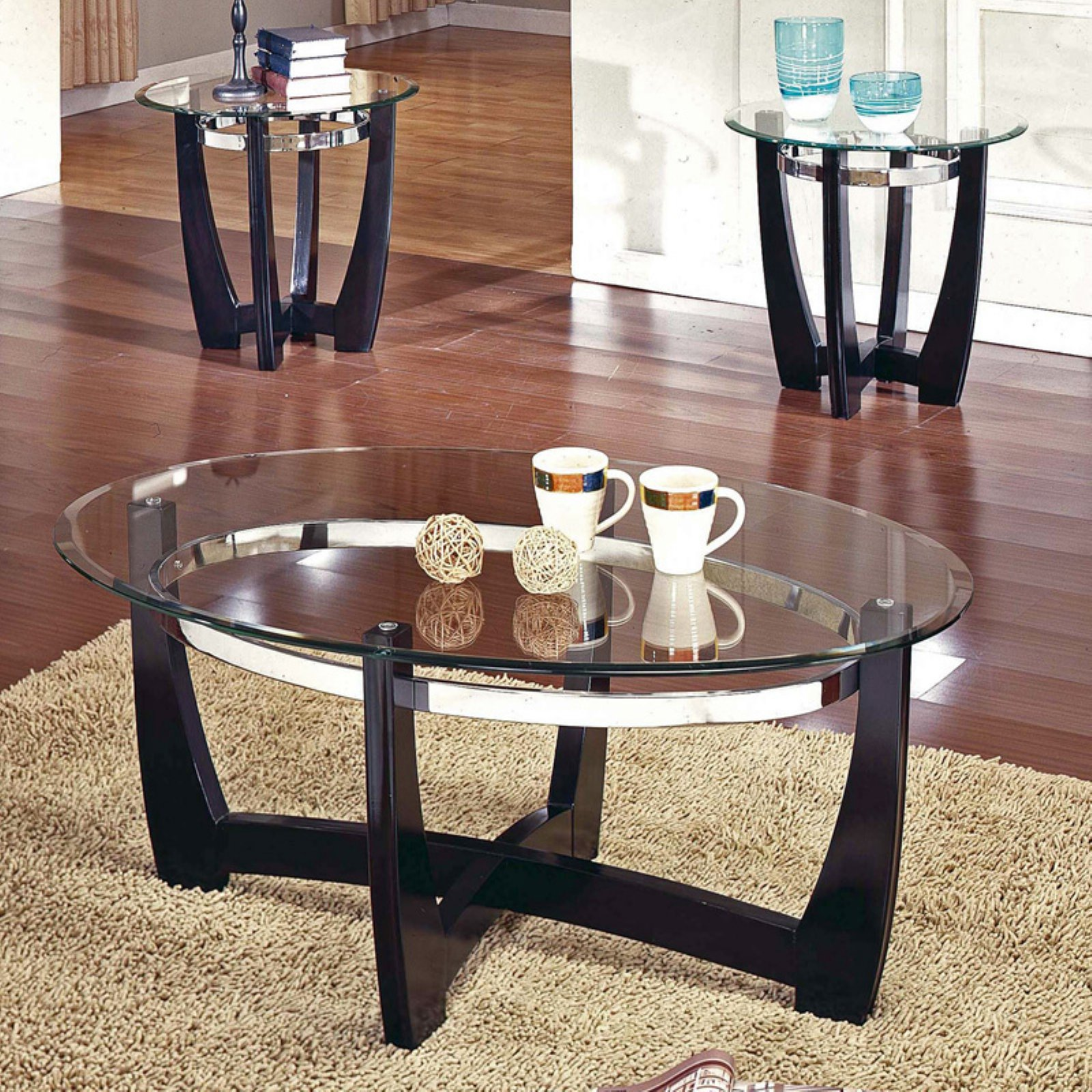 Oval Glass Coffee Table Decor Ideas