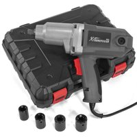 "XtremepowerUS 1/2"" Electric Impact Wrench Corded Impact Tool with (4) Sockets 7.5 Amp 300 N.M Torque and Case"
