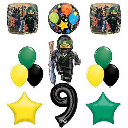 The Ultimate Lego Ninjago 9th Birthday Party Supplies and Balloon Decorations](Ninjago Party Supplies)