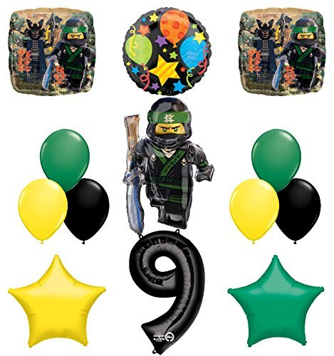 The Ultimate Lego Ninjago 9th Birthday Party Supplies and Balloon Decorations