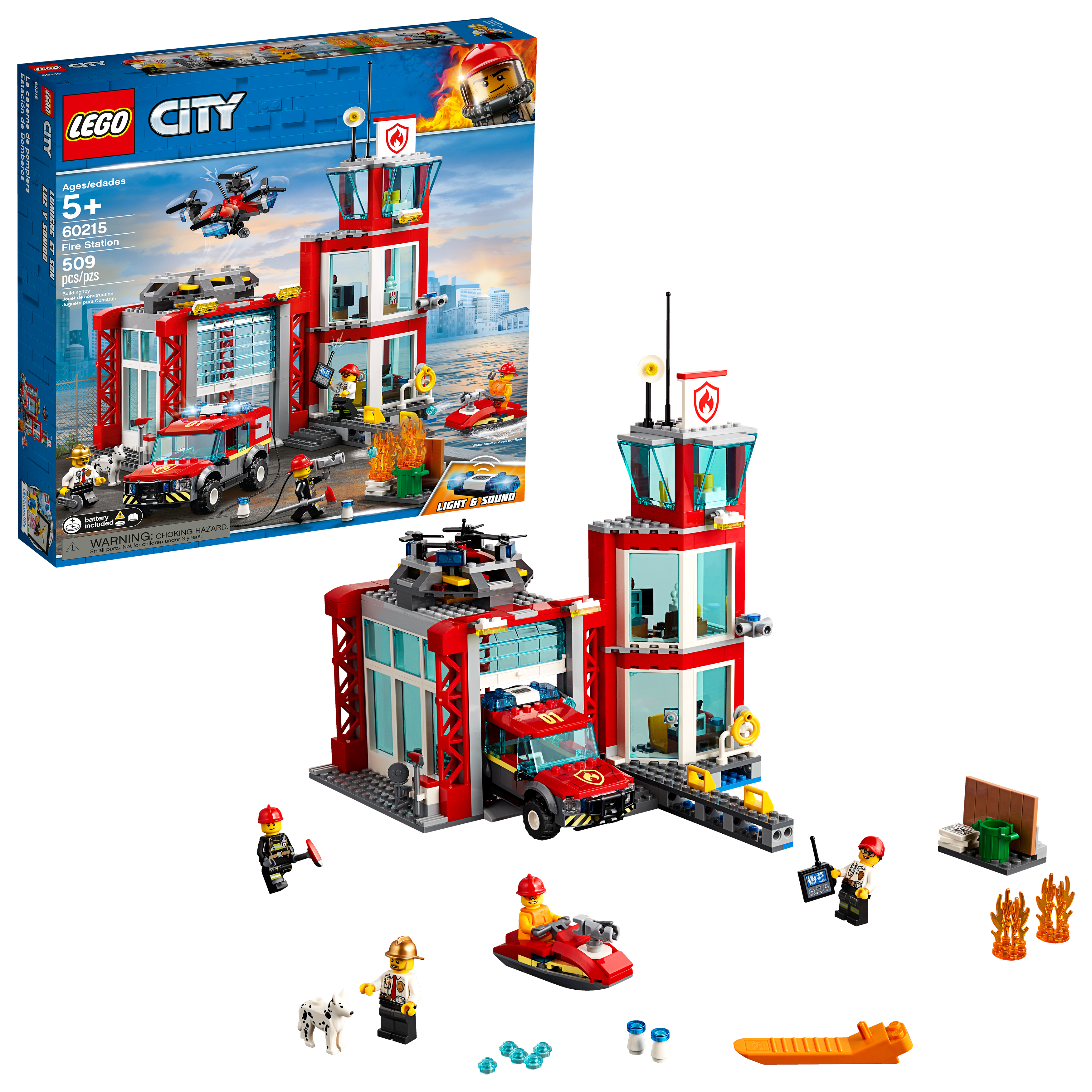 LEGO City Fire Fire Station 60215 Building Set (509 Pieces)
