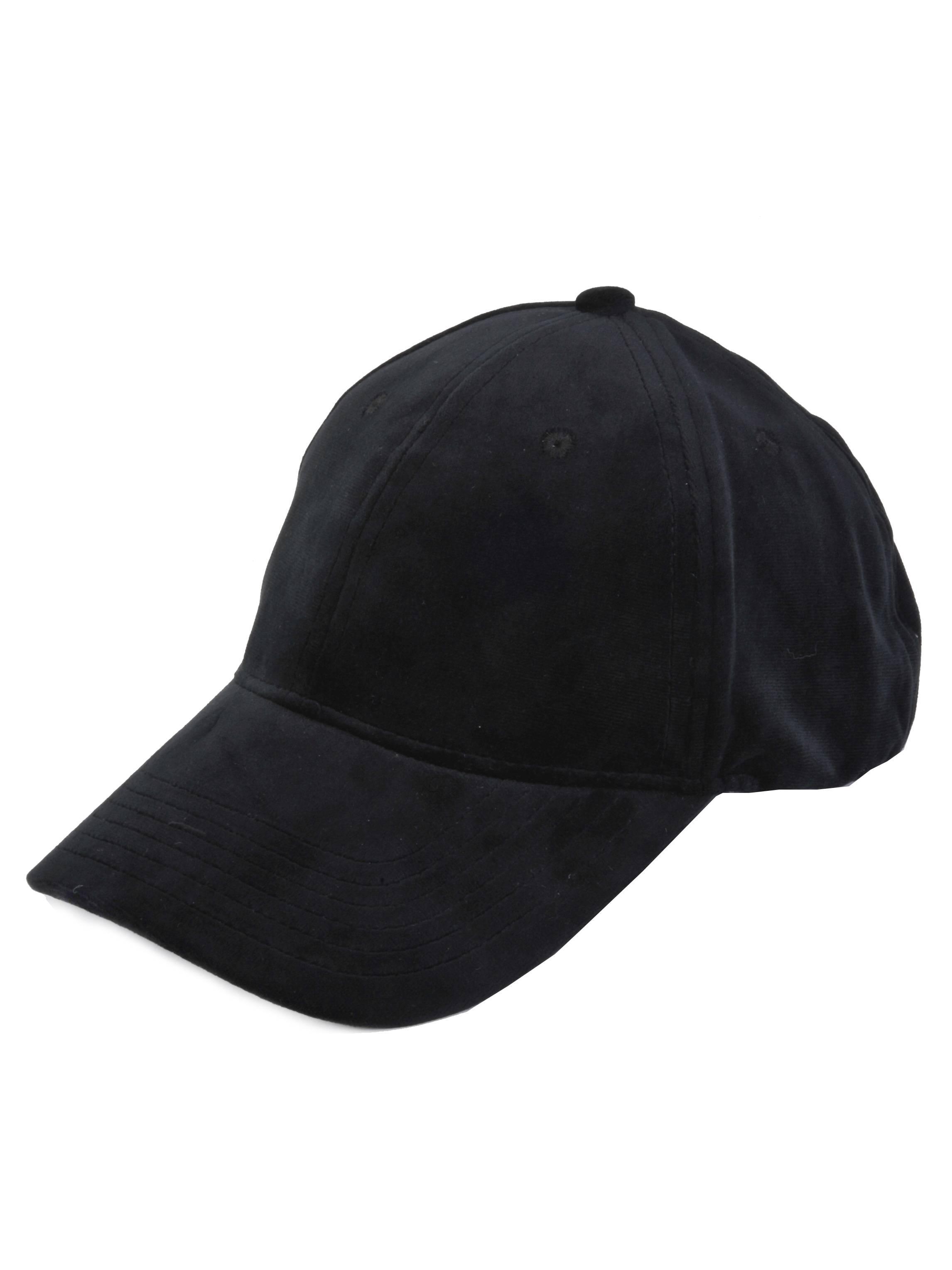f8c1063ba Top Headwear Suede Baseball Cap - Black