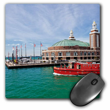 3dRose Chicago skyline from the water, Illinois, USA, Mouse Pad, 8 by 8 inches