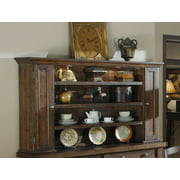 Emerald Home Castlegate Pine Brown Hutch with Open Shelving And Touch Lighting