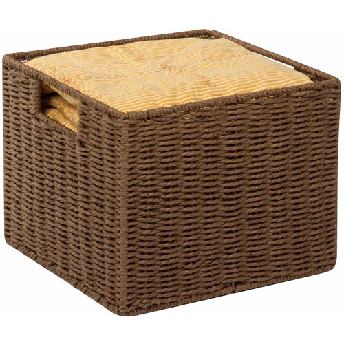 Honey-Can-Do Parchment Cord Crate, Brown