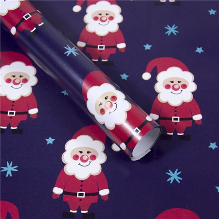 Christmas Wrapping Paper Gift Present Tree Santa Wrap Decorative Xmas Party Roll