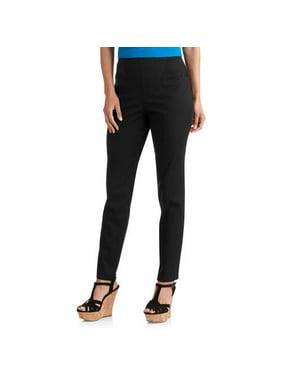 2db095f734257 Product Image Women s Flat Front Back Elastic Stretch Denim Pants