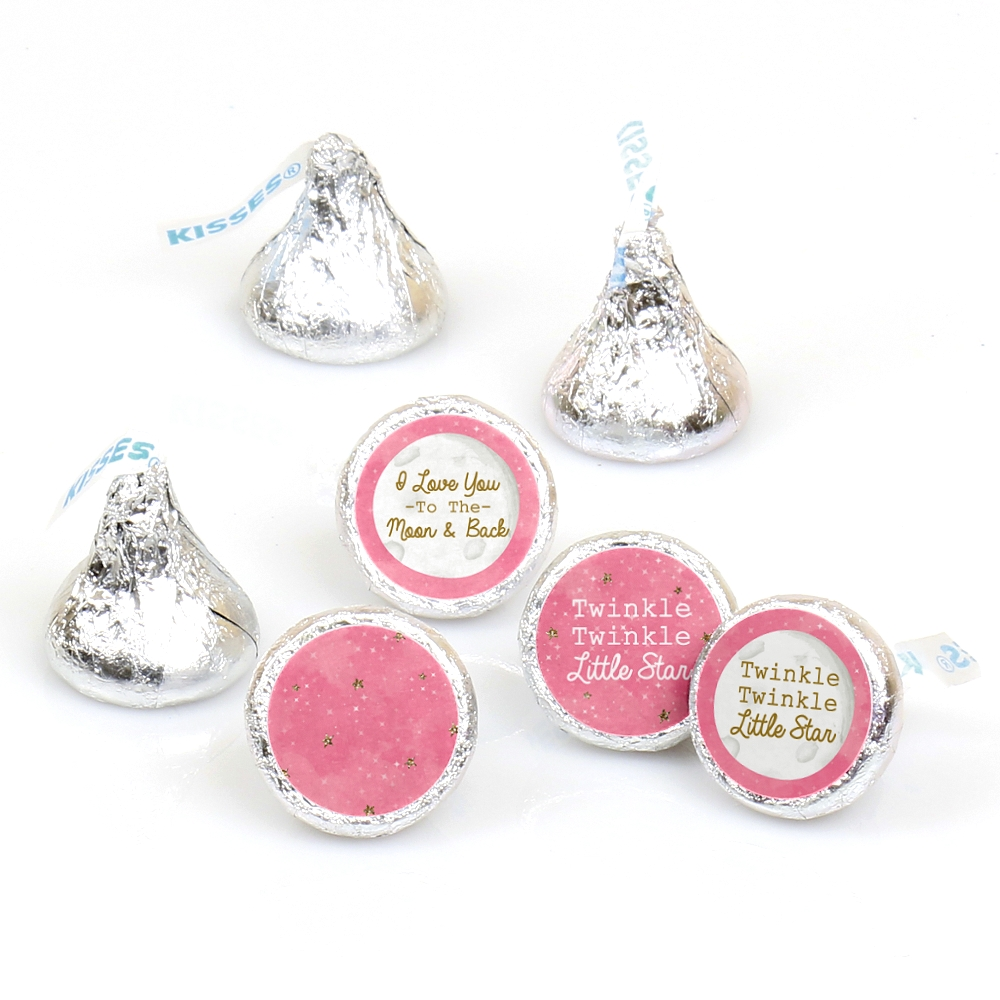 Pink Twinkle Little Star - Baby Shower or Birthday Party Round Candy ...
