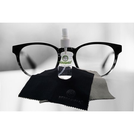 (Professional Eyeglasses and Screen Cleaner Includes 2 Microfiber cloths and travel case)