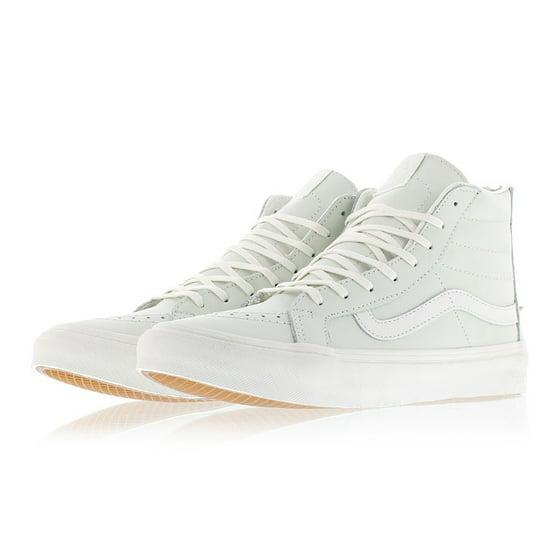 9ab83aa46e Vans - Vans SK8 Hi Slim Zip Leather Zephyr Blue Blanc de Blanc ...