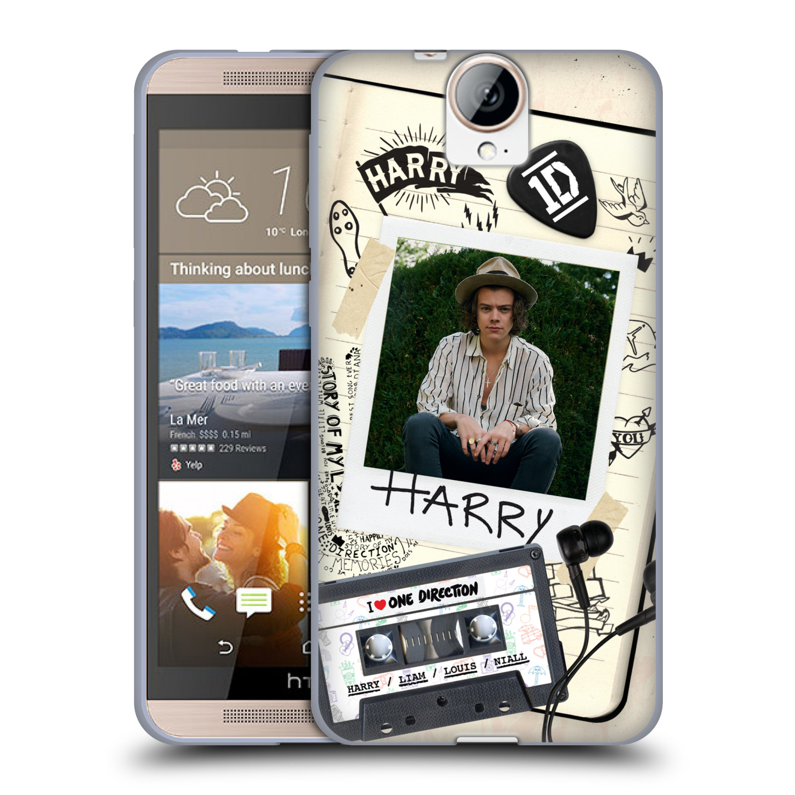 OFFICIAL ONE DIRECTION TAPE SNAPSHOT SOFT GEL CASE FOR HTC PHONES 2