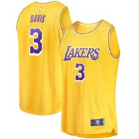 Anthony Davis Los Angeles Lakers Fanatics Branded 2019/20 Fast Break Replica Jersey Gold - Icon Edition