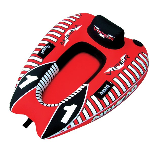 AIRHEAD AHVI-F1 Viper 1 Single Rider Cockpit Inflatable Lake Water Towable Tube