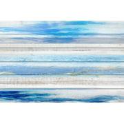 """Parvez Taj """"Baia Azul"""" Print on White Wood"""