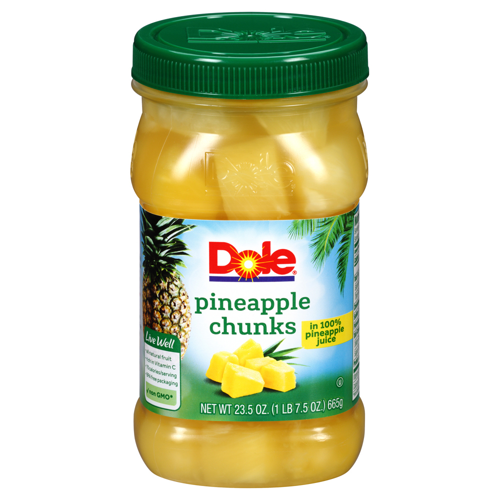 Dole Pineapple Chunks in 100% Pineapple Juice, 23.5 oz
