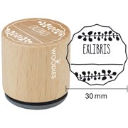 """Woodies Mounted Rubber Stamp 1.35""""-Exlibris 2"""