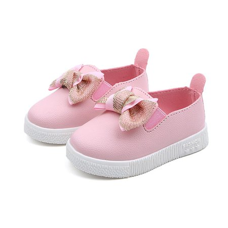 Funcee Kid Girls Autumn Bowknot Soft Soled Walking Princess Shoes