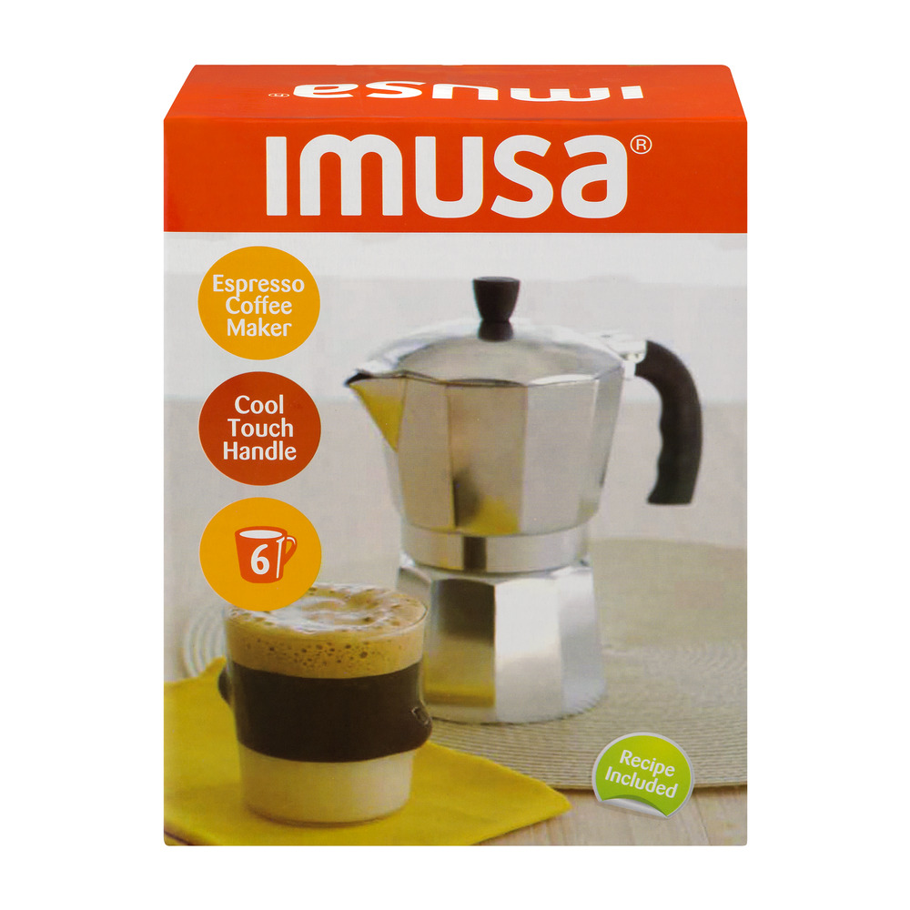Imusa Espresso Coffee Maker Cool Touch Handle - 6 CUP, 1.0 CT