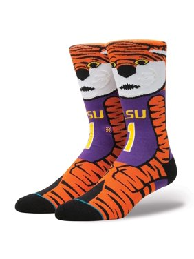 17e94f75c2f Product Image Stance Men s LSU Mike The Tiger Mascot Crew Socks Purple  Orange