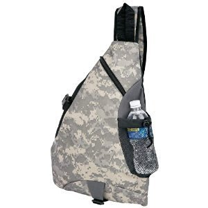 Extreme Pak™ 600d Digital Camo Water-Resistant Sling Backpack