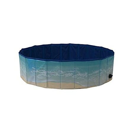 midlee dog pool - foldable & portable outdoor bathing tub (63