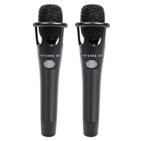 2) Blue Encore 300 Studio Handheld Live Sound or Condenser Recording Microphones Live Recording Microphone