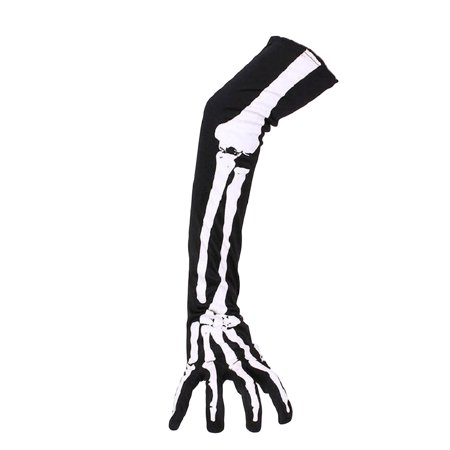 1 Pair of Halloween Skeleton Gloves Long Arm Full Finger Gloves Costume Cosplay Party