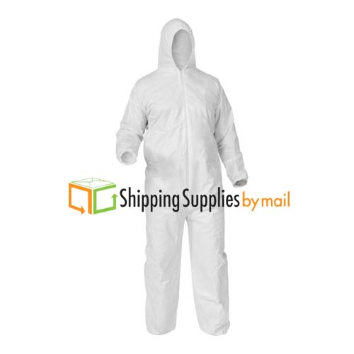 Microporous Disposable Coverall with Hood & Boots 150 Pcs by Shield-Safety