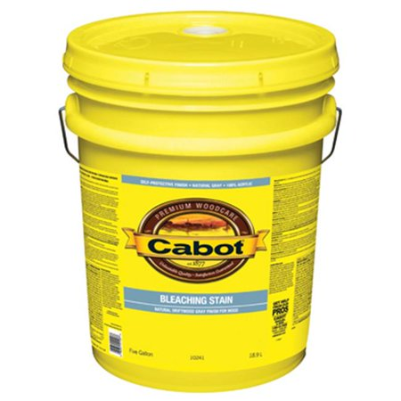 Cabot-Valspar 218398 1 gal Bleaching Stain Acrylic - Natural Driftwood Gray
