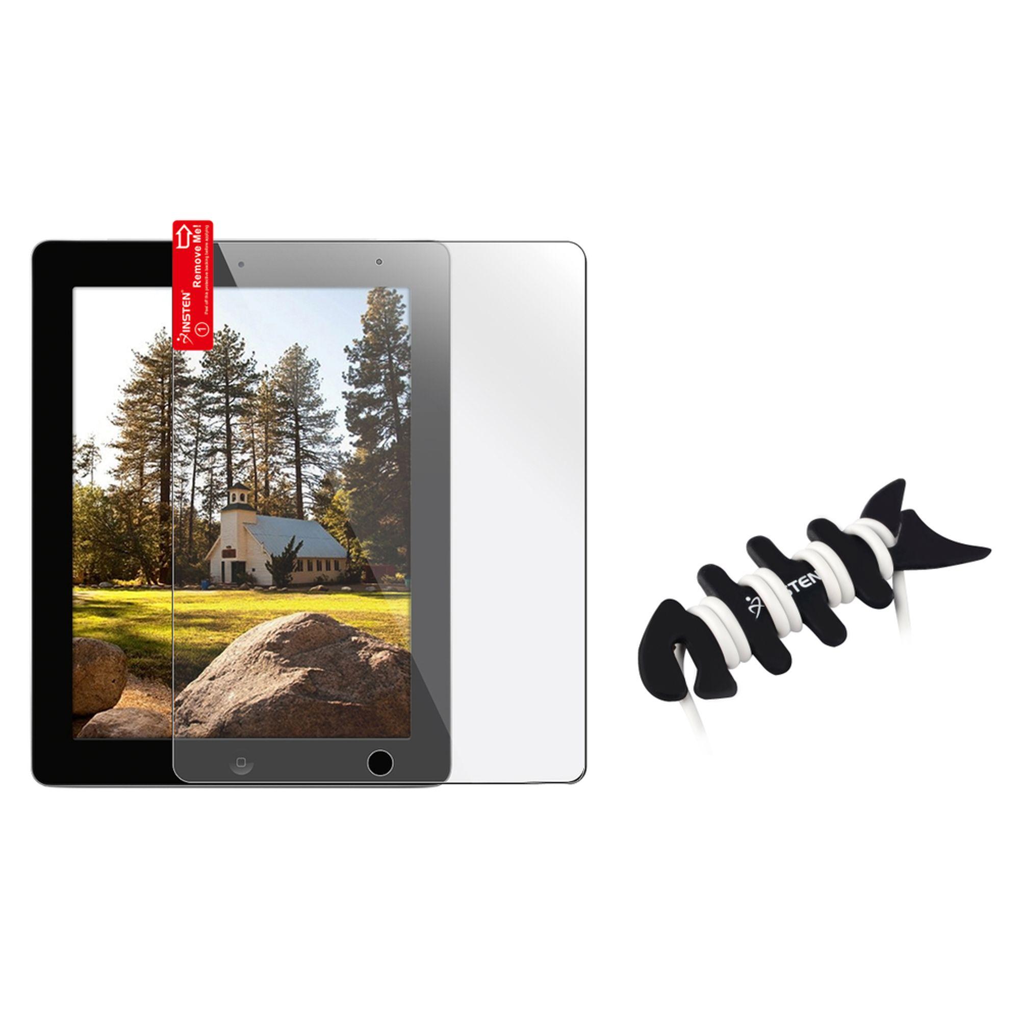 Insten 3x Clear LCD Screen Protector for iPad 4 4th/3/2 Retina Display+Fishbone Wrap