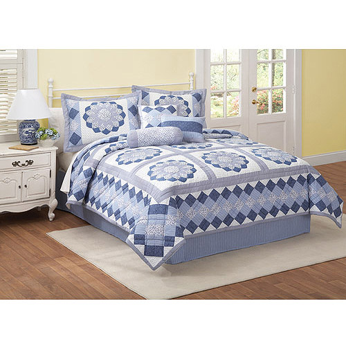 Day By Day Hildy Blue Bedding Quilt Set