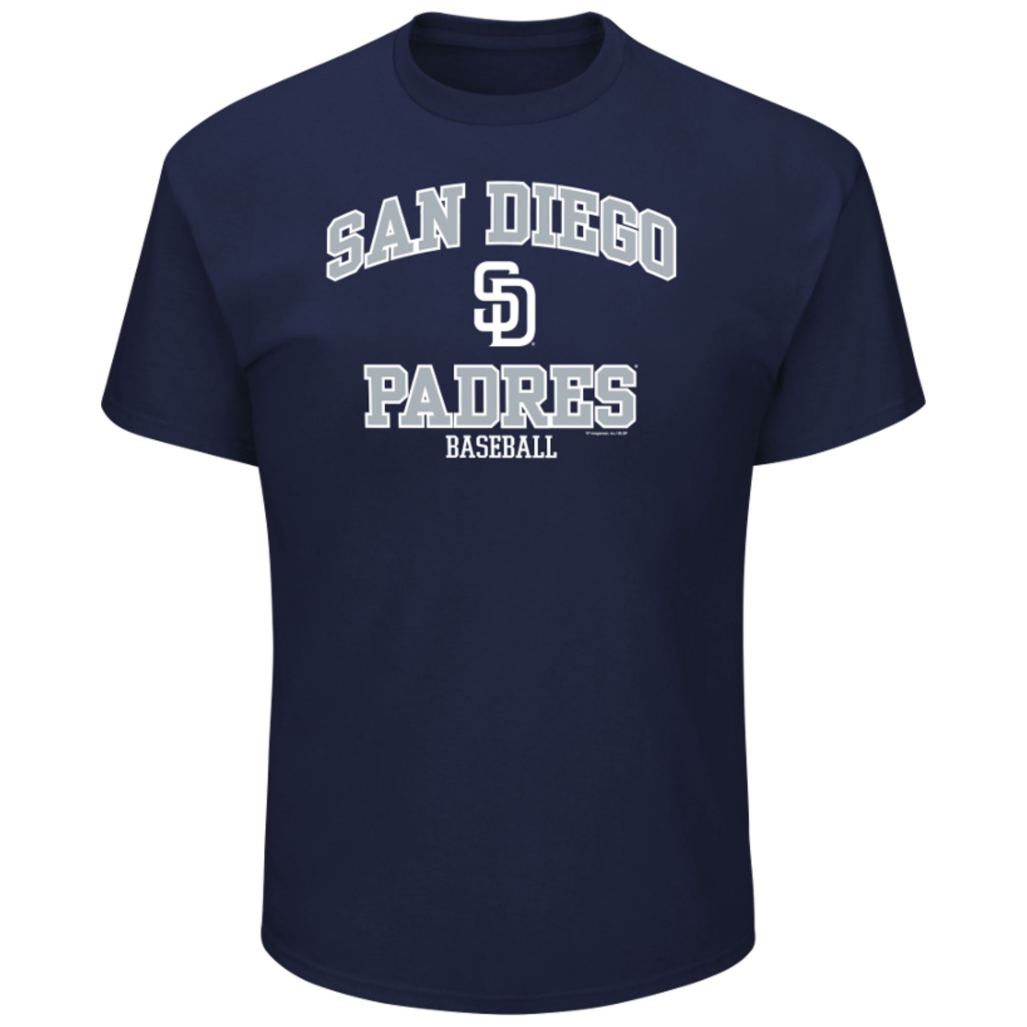 Men's Majestic Navy San Diego Padres High Praise Team T-Shirt