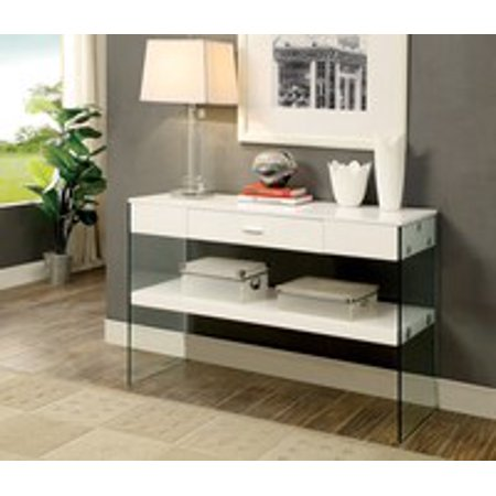 Rhiannon Acrylic Panel Sofa Table Contemporary Style -