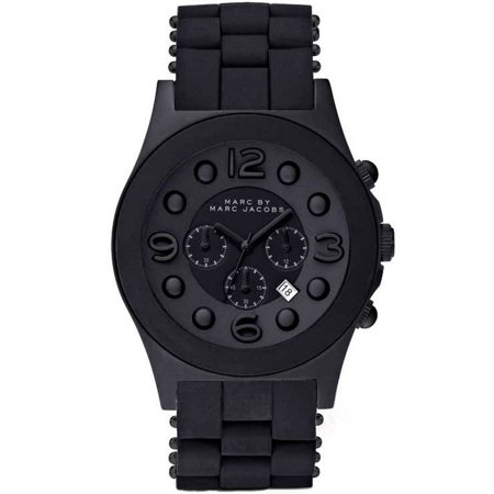 Jacob Block - Marc Jacobs Women's MBM2567 'Pelly' Chronograph Black Stainless steel and Silicone Watch