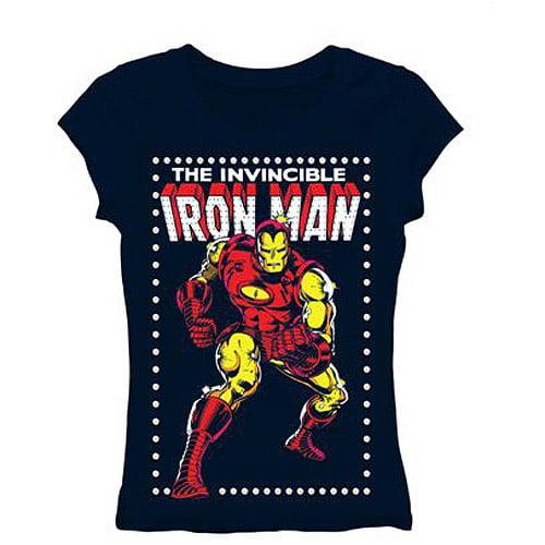 Juniors Iron Man Short Sleeve Graphic Tee