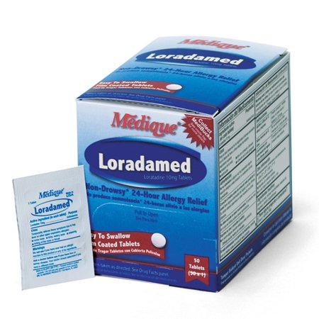 Medique Loradamed Non-Drowsey Allergy Relief Capsules (50 x 1s) Box of