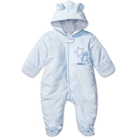 e65493be2 Child of Mine by Carter s - Newborn Boys  Bear Pram Suit - Walmart.com