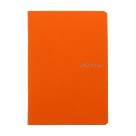 Fabriano EcoQua Notebooks, 5.83in x 8.27in, Blank, 70 Sheets, Orange