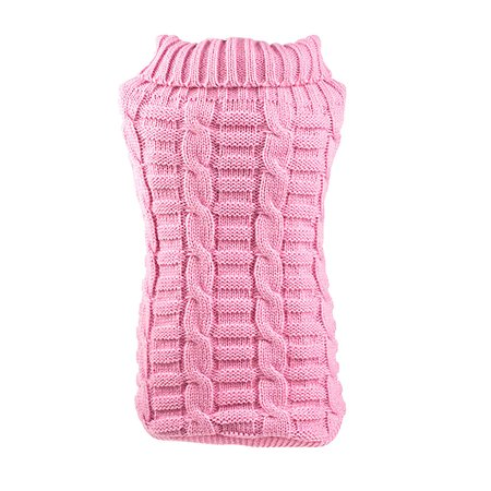 Unique Pet Costumes (Unique BargainsSmall Pet Dog Clothes Puppy Cat Sweater Knit Coat  Apparel Costumes Pink,)